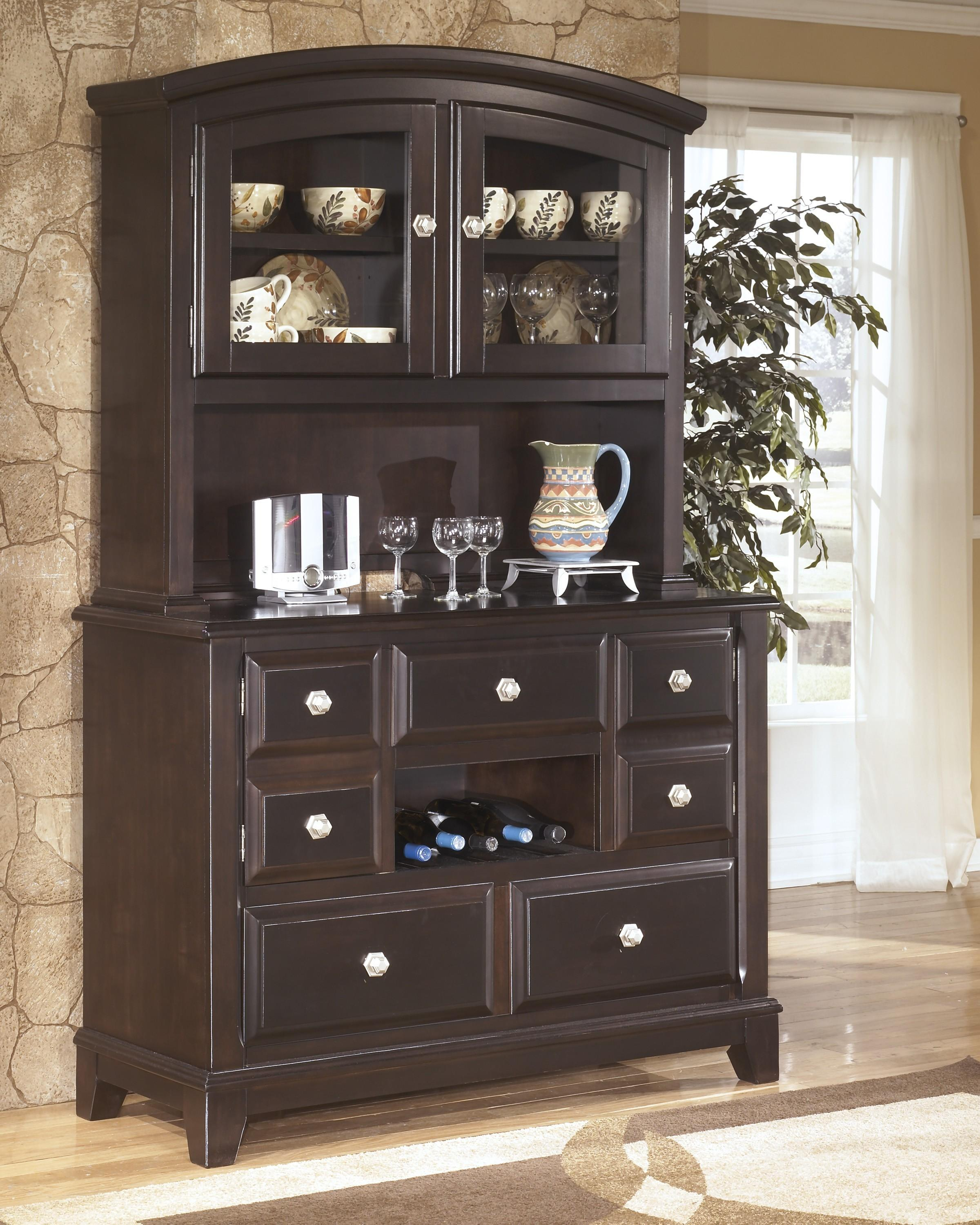 Ridgley Contemporary Style Dark Brown Finish Dining Room