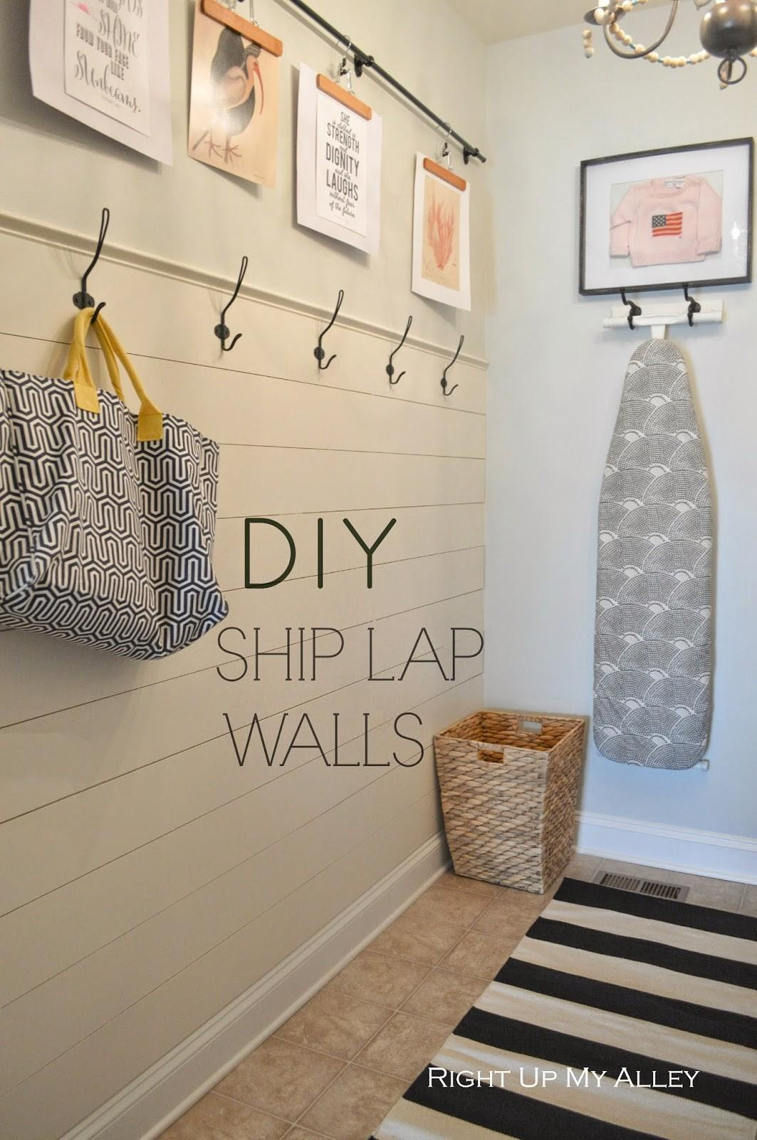 Right Alley Diy Ship Lap Wall
