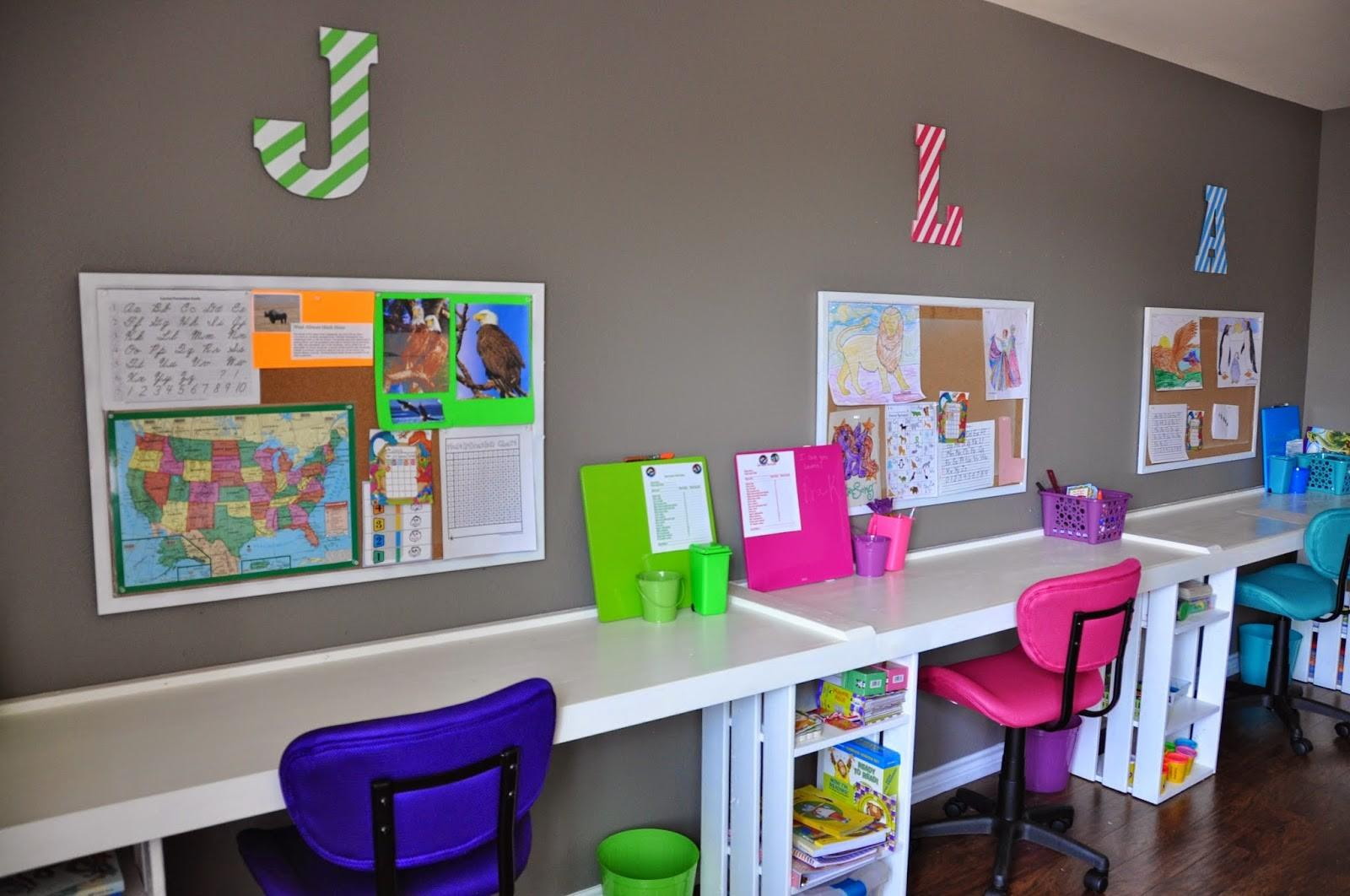 30 Exquisite Shared Study Spaces For Kids That Can Make Great Decor Accents Beautiful Decoratorist