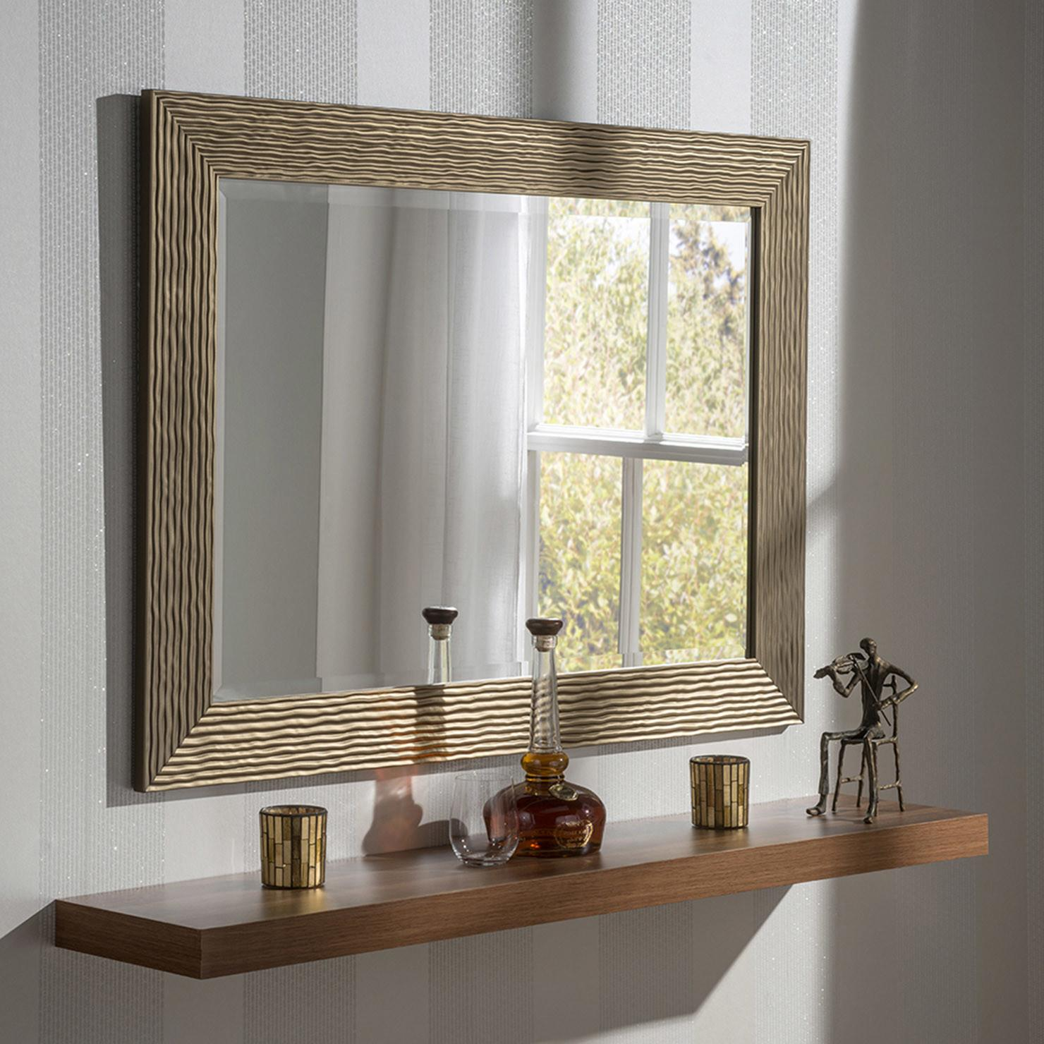 Ripple Wall Mirror Bronze Achica