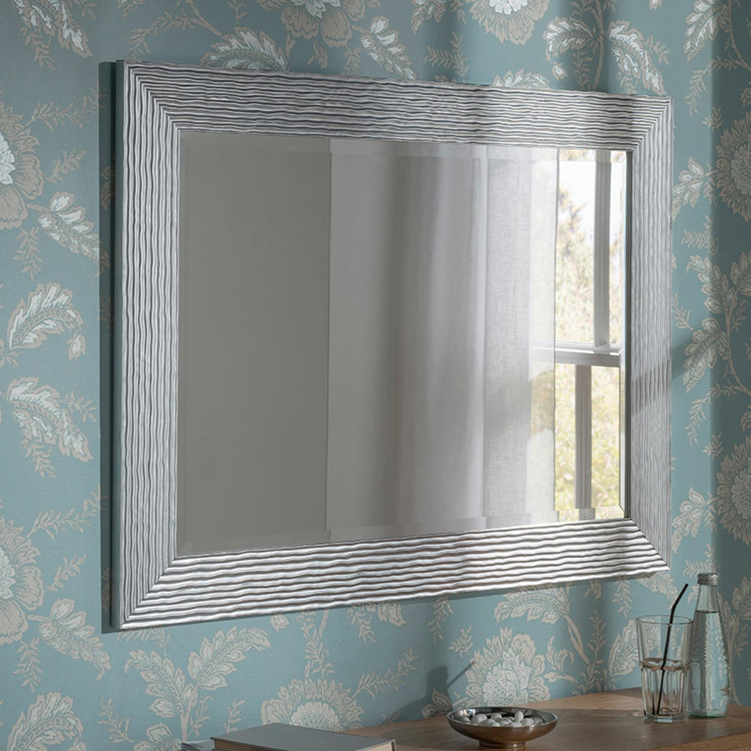 Ripple Wall Mirror Silver Achica