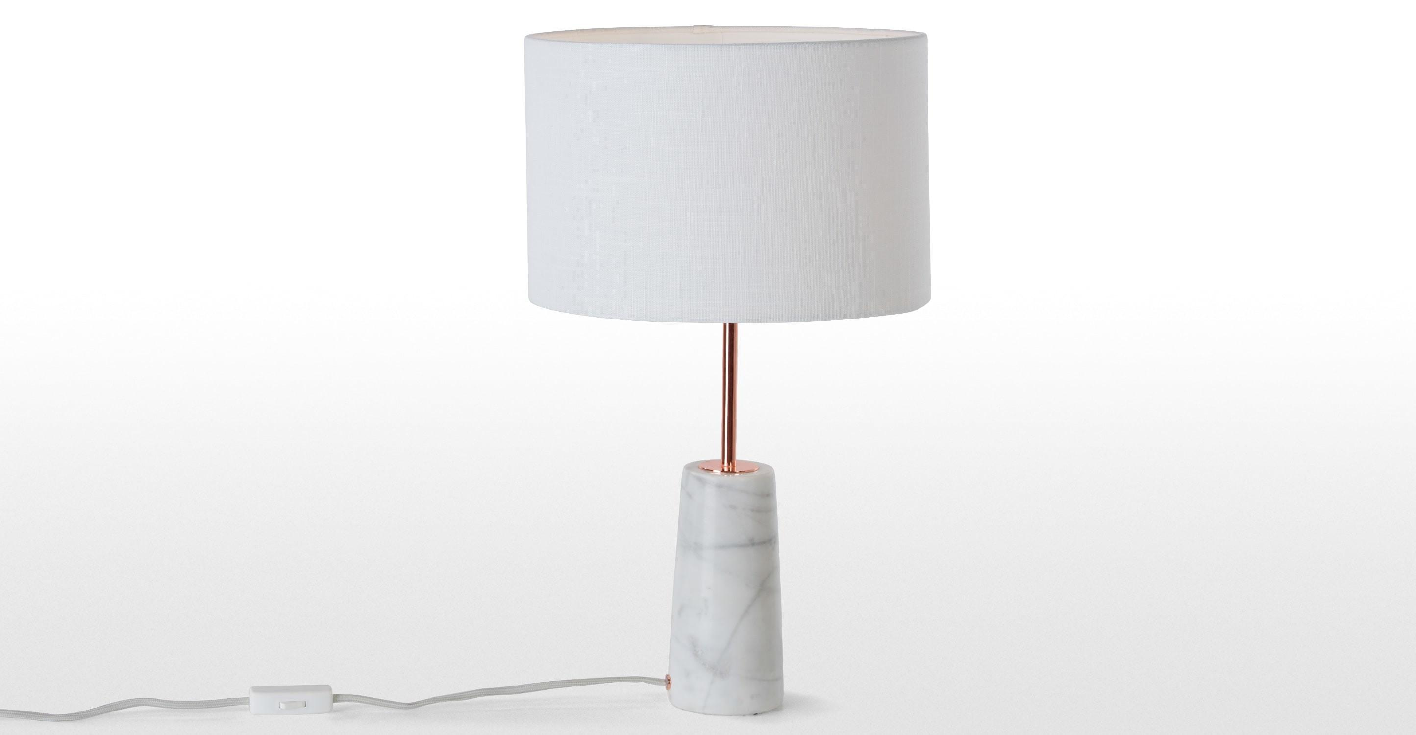 Rita Table Lamp Copper Marble Made