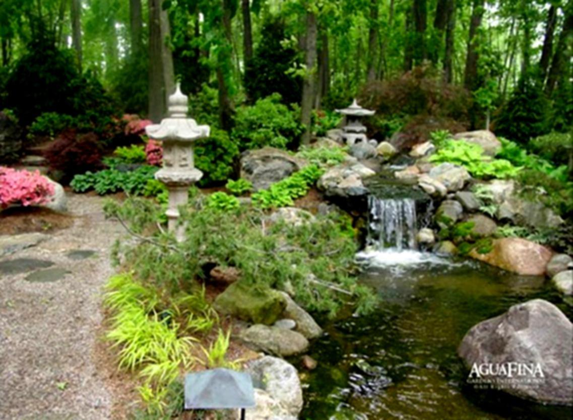 River Rock Garden Ideas Bridge Natural Landscaping