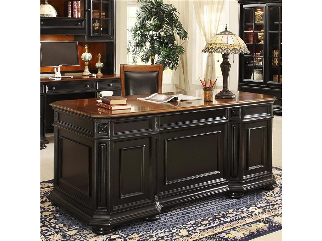 Riverside Home Office Executive Desk Hickory