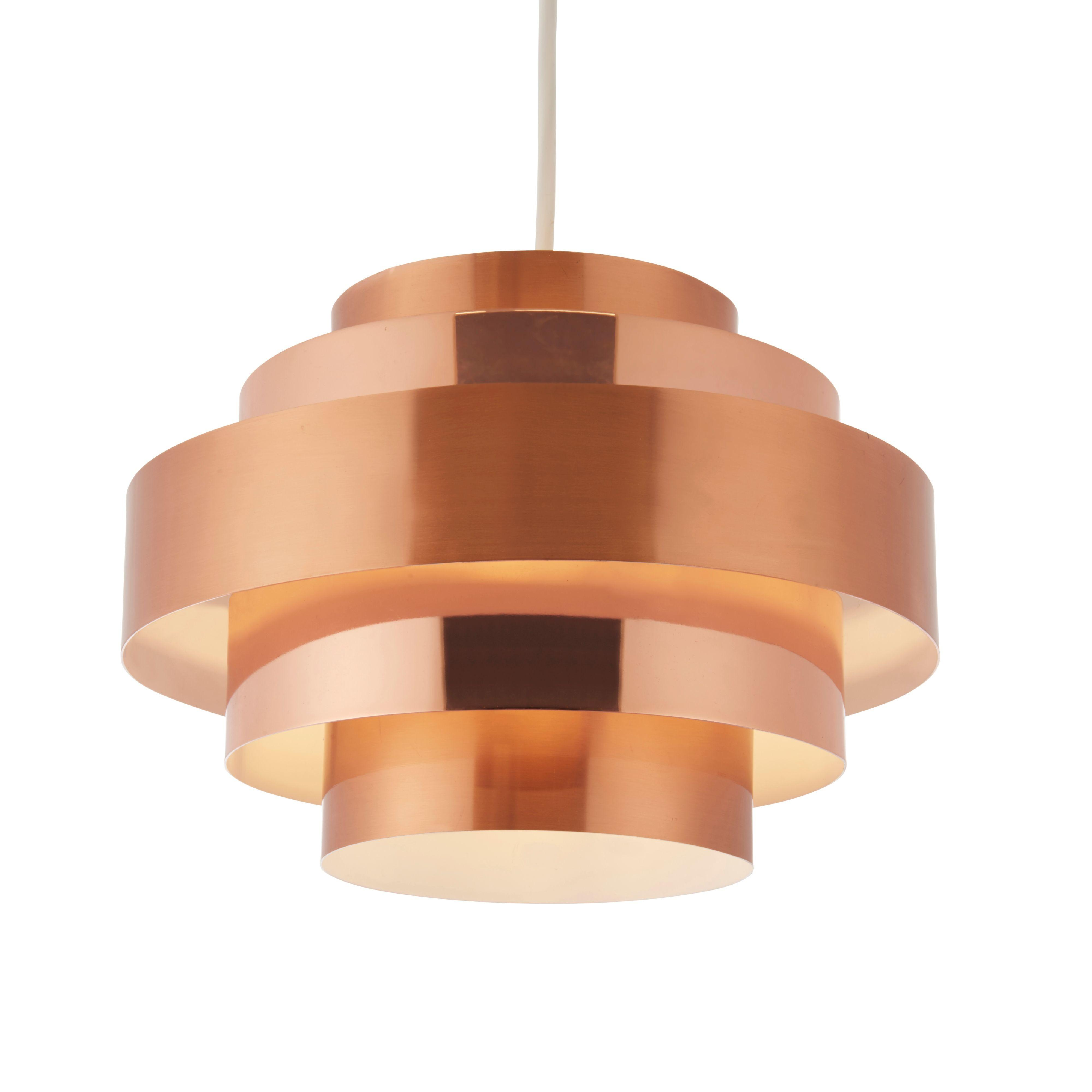 Rizo Copper Brushed Effect Lamp Shade Departments