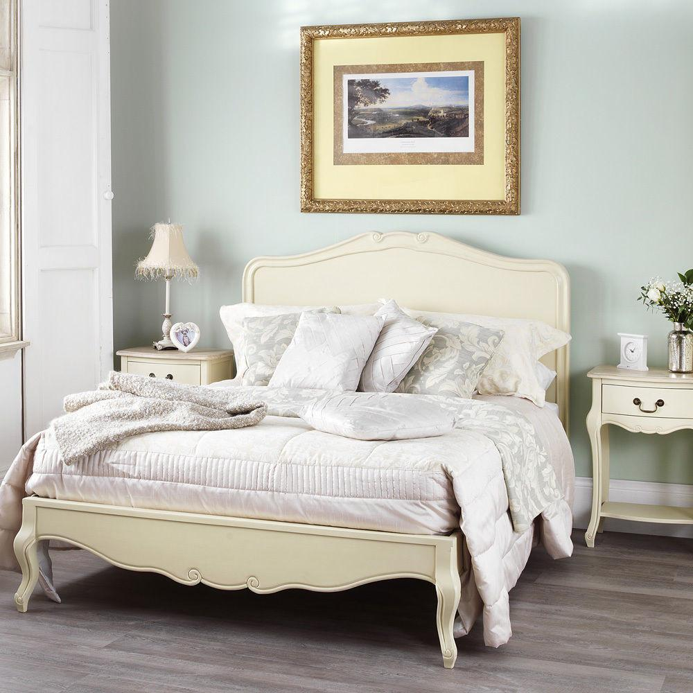Rochelle Shabby Chic Champagne Painted 5ft King Bed
