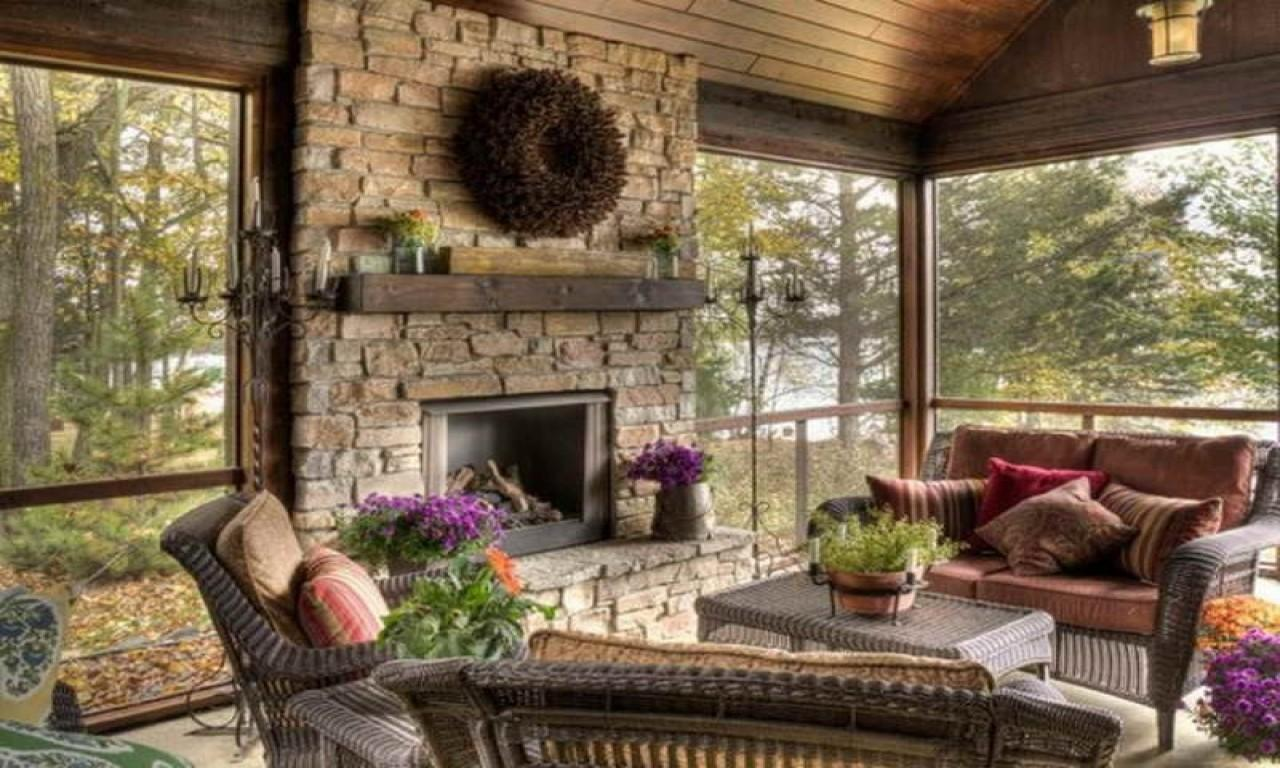 Rock Fireplace Mantel Decorating Ideas Selection