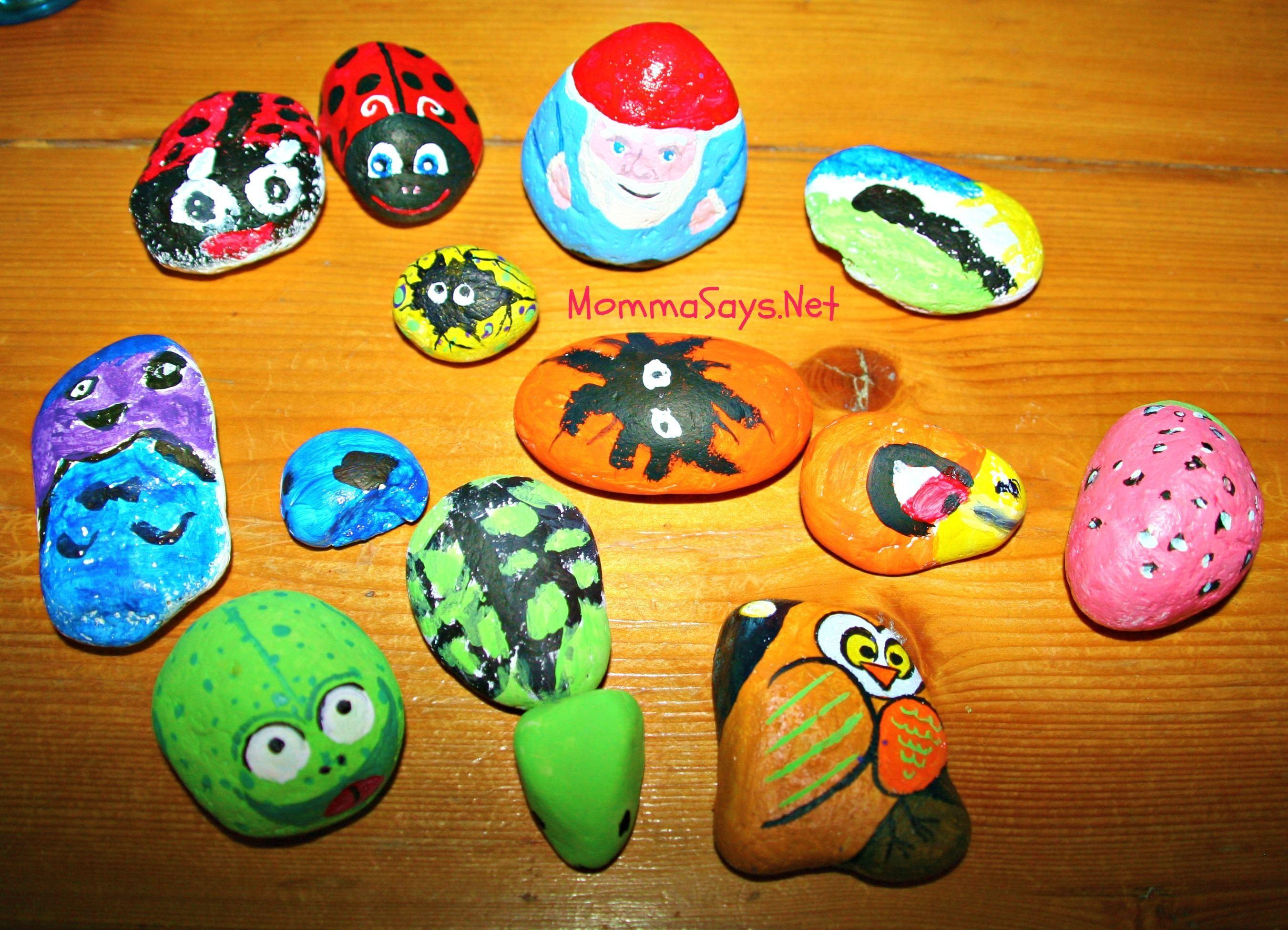 Rock Ideas Best Summer Craft Painting Mommasays