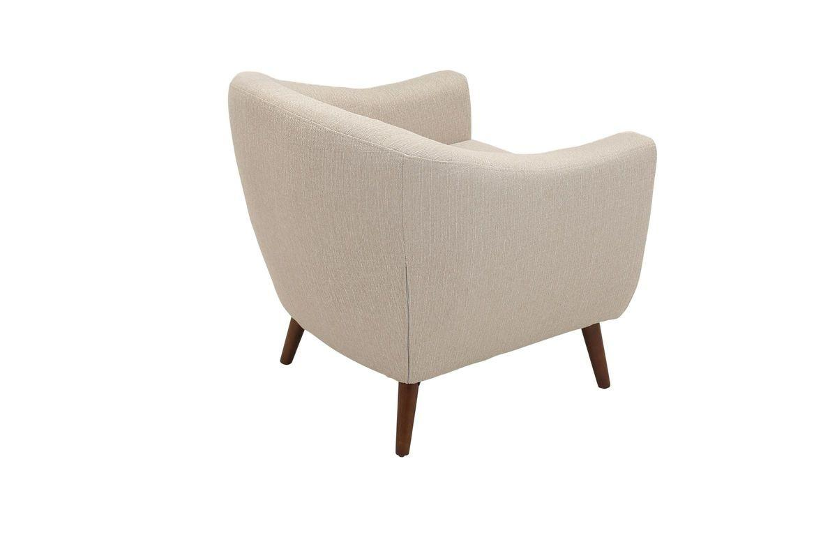 Rockwell Mid Century Modern Accent Chair Cream