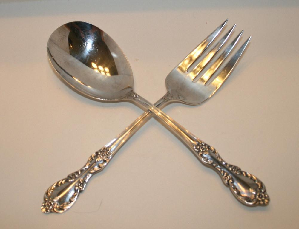 Rogers Silver Serving Fork Spoon