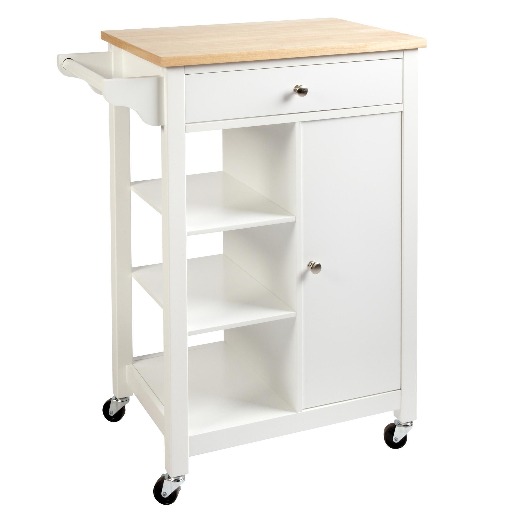 Rolling Kitchen Island Open Shelves Christmas Tree