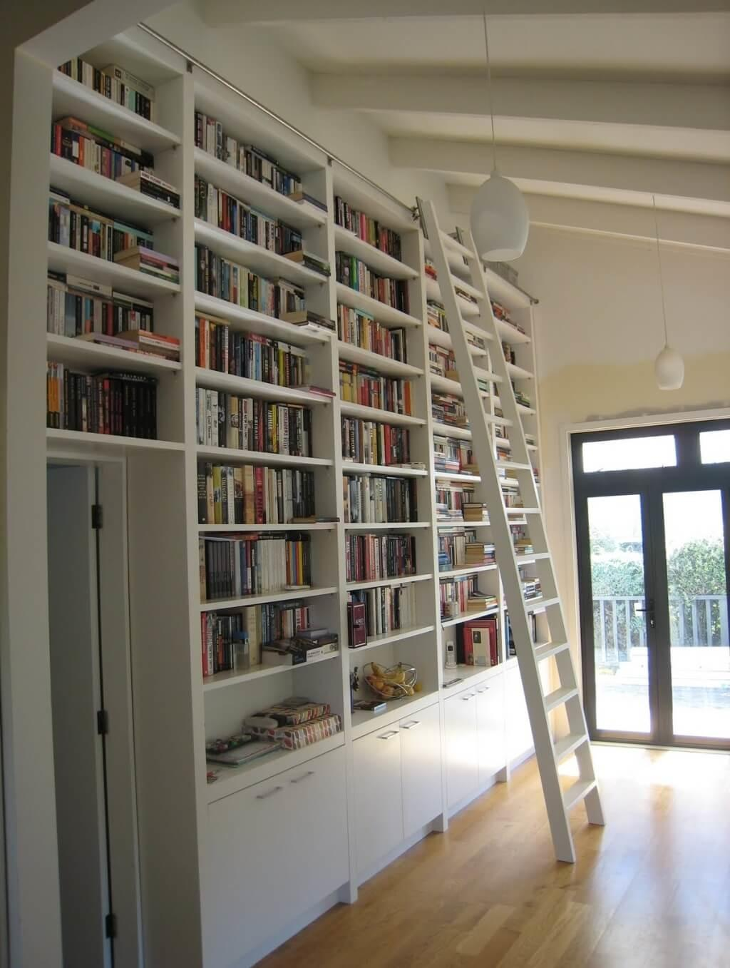 Rolling Library Ladder White Optimizing Home Decor Ideas