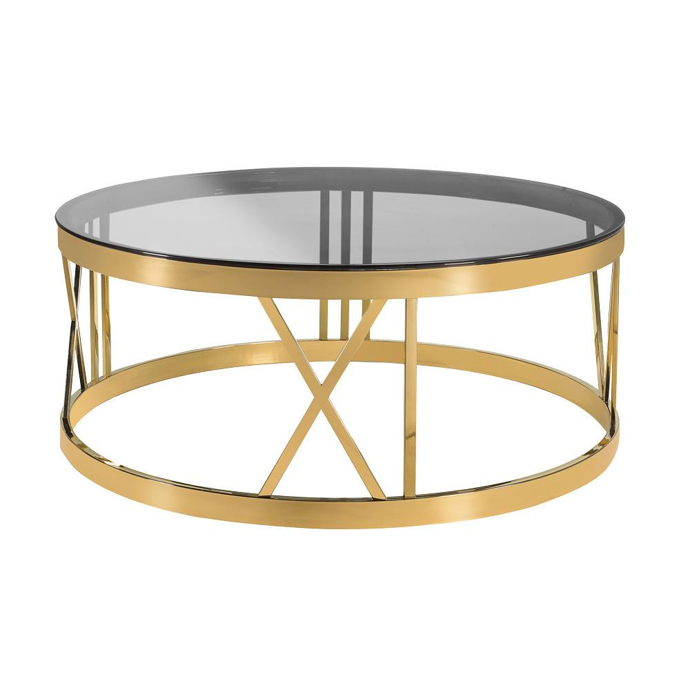 Roman Black Gold Coffee Table Xcella