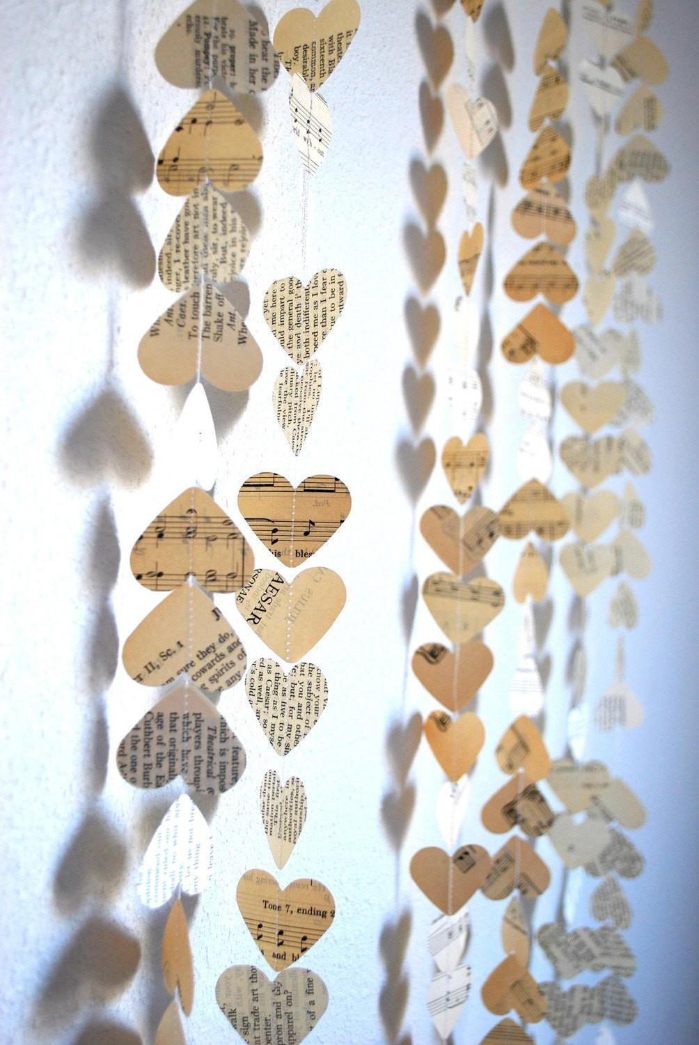 Romantic Vintage Hearts Garland Created Using