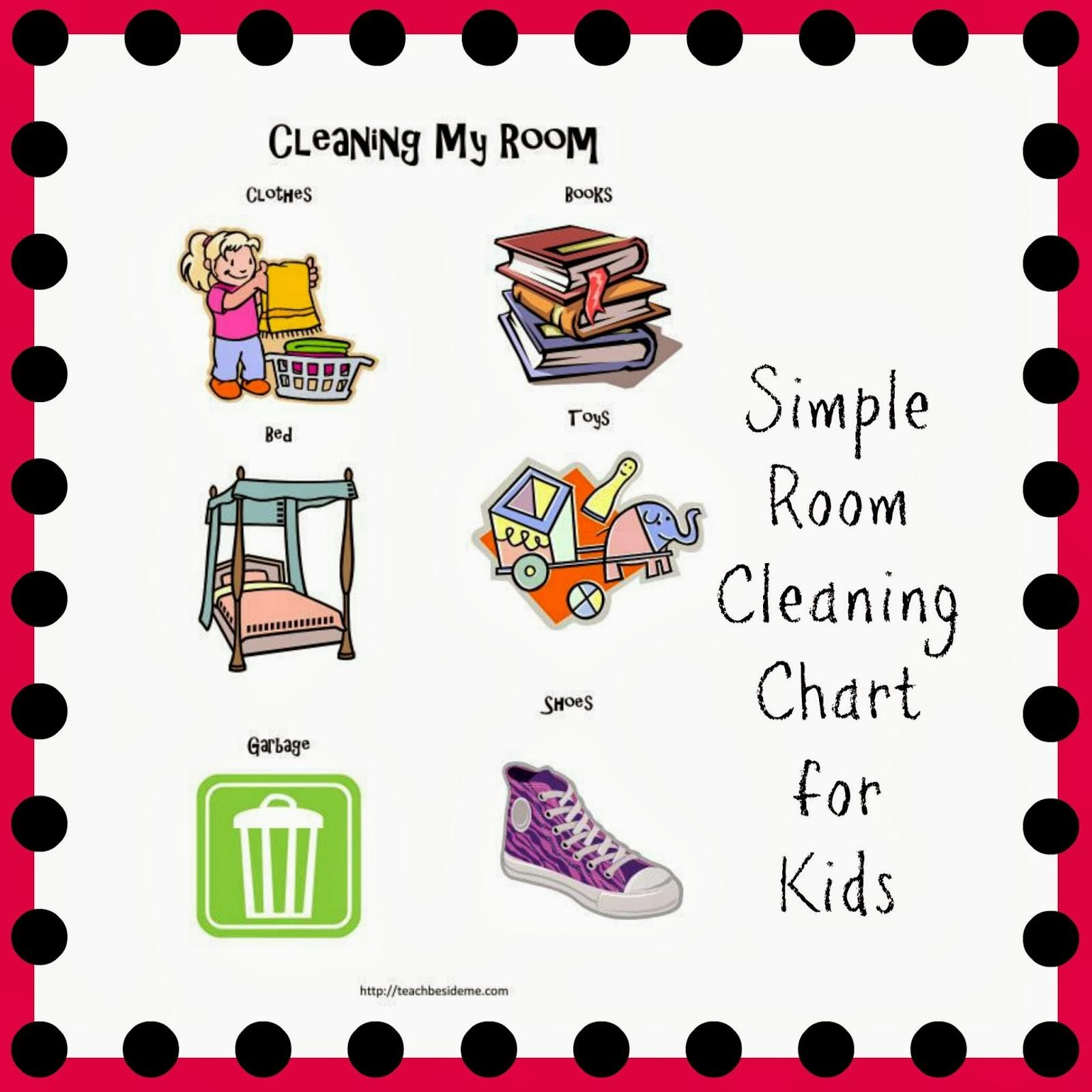 Room Cleaning Chart Toddlers Preschoolers Teach