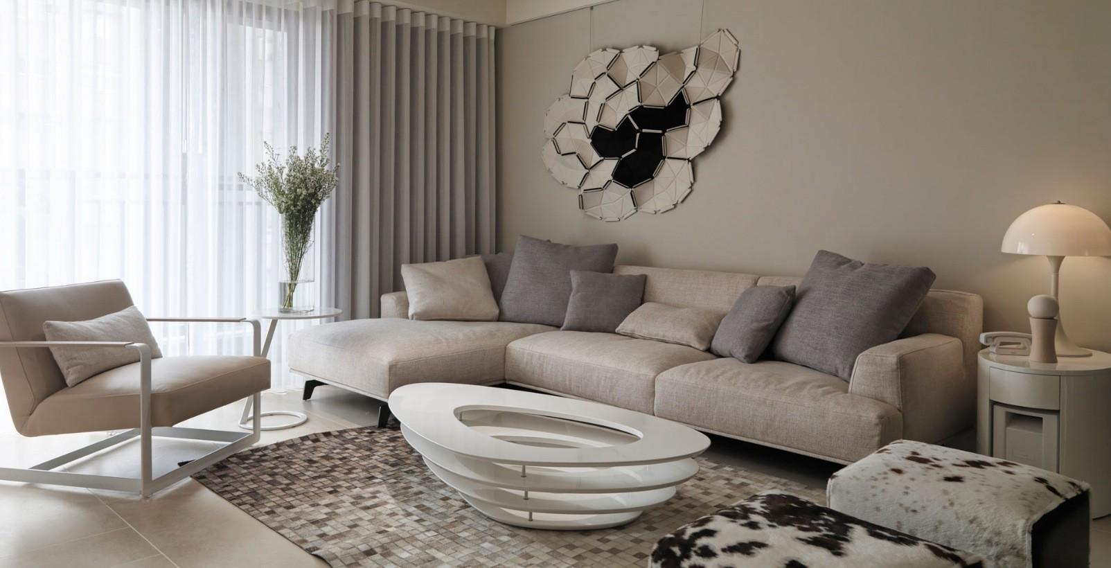 Room Neutral Paint Contemporary Living