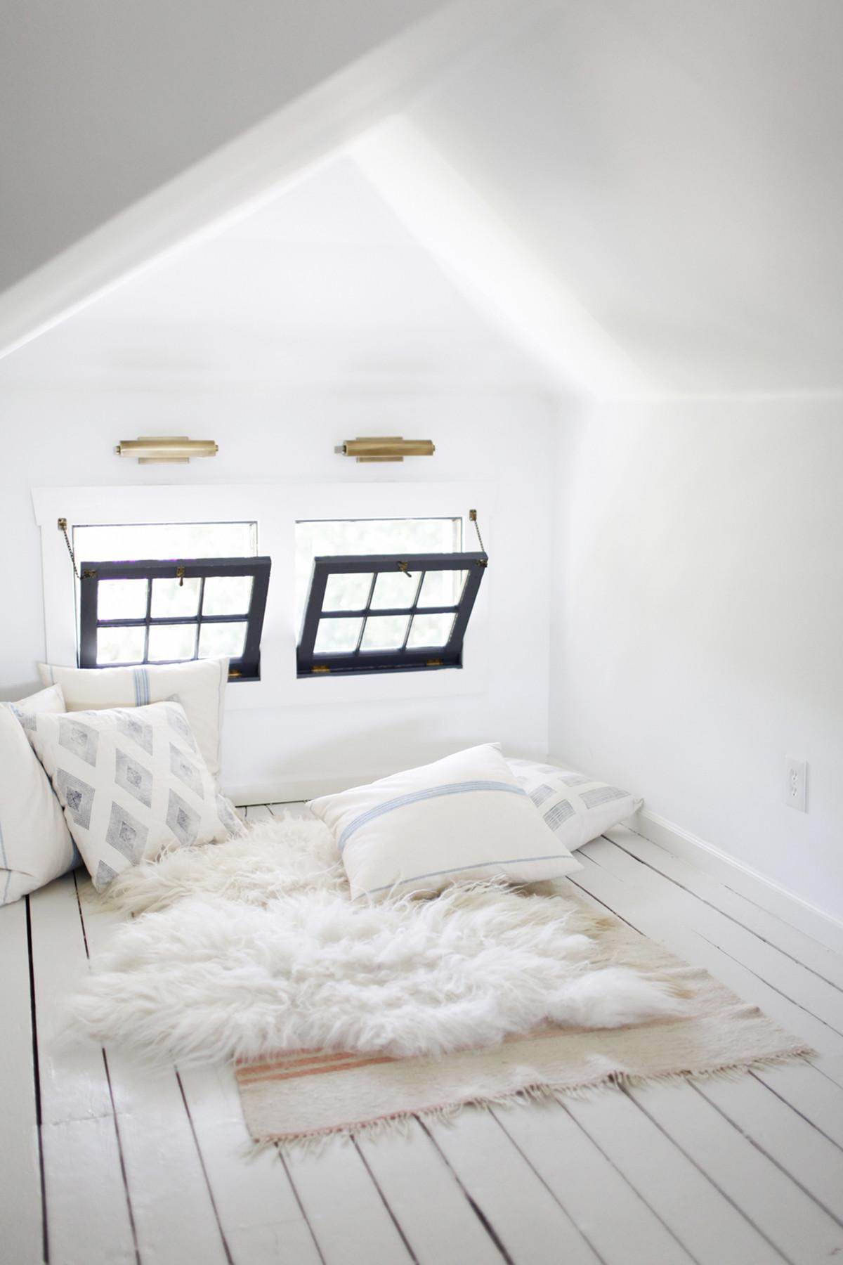 Room Week Dreamy White Attic Office Coco