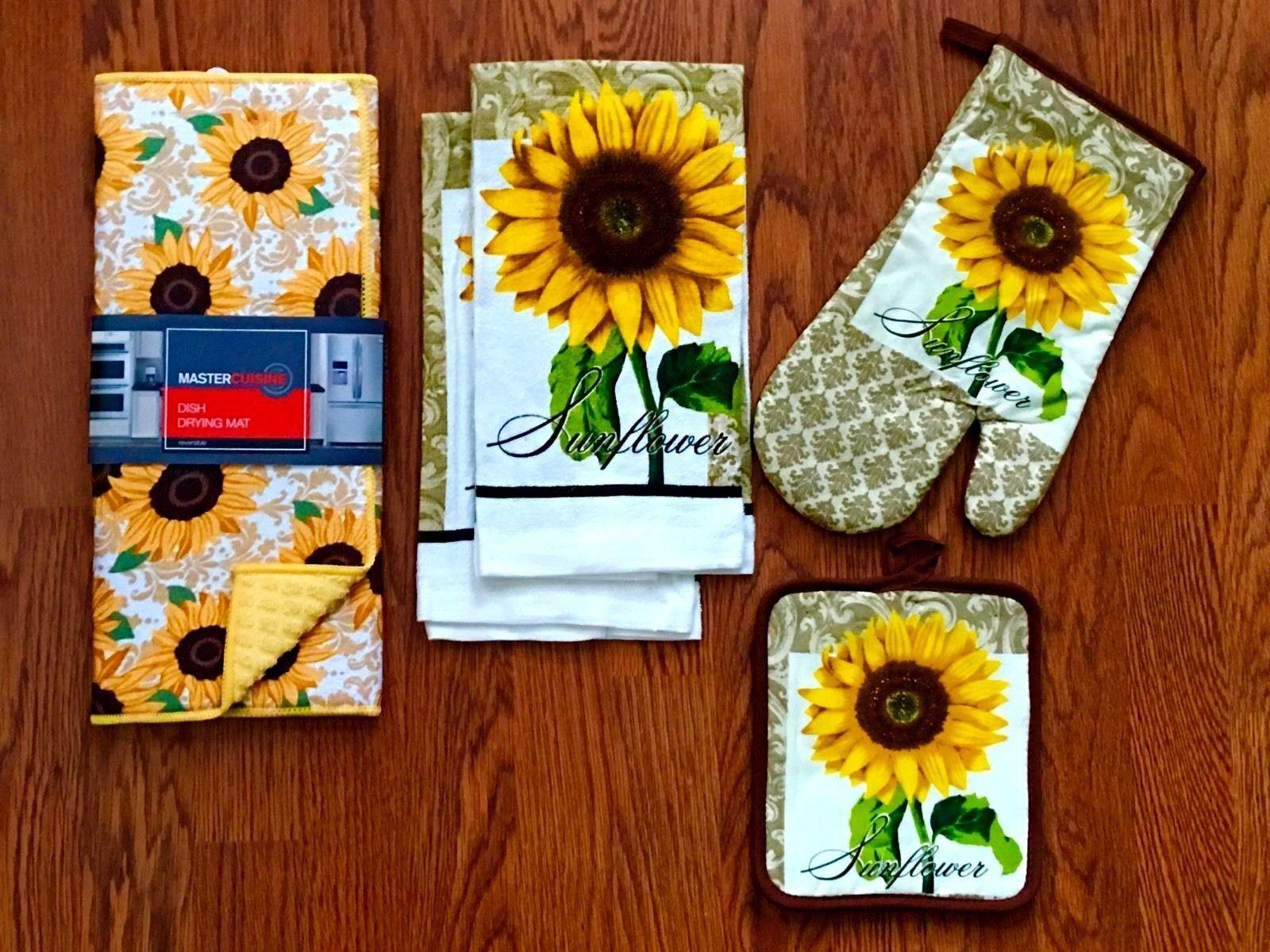 Rooster Kitchen Decorating Ideas Blue Yellow Sunflower