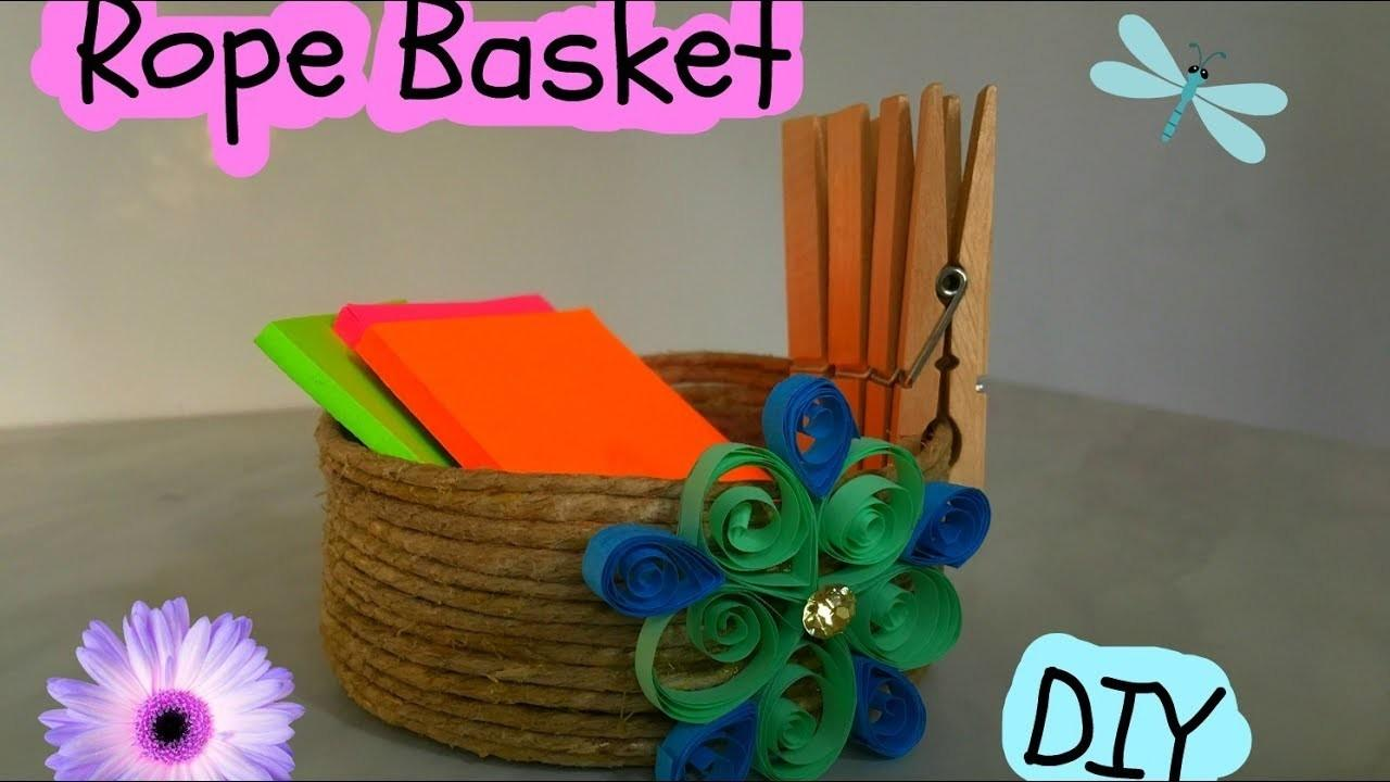 Rope Basket Diy Crafts Projects