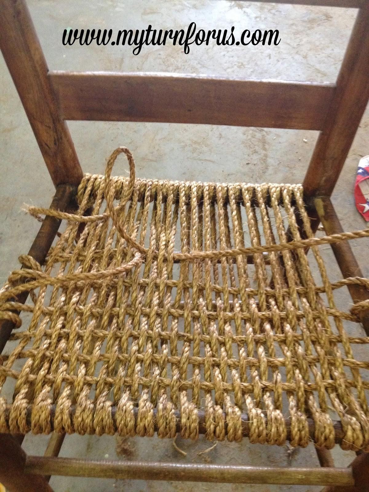 Rope Hemp Bottomed Chair