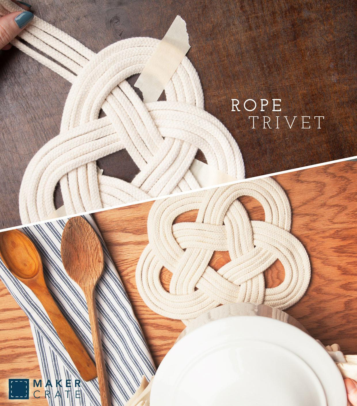 Rope Trivet Maker Crate