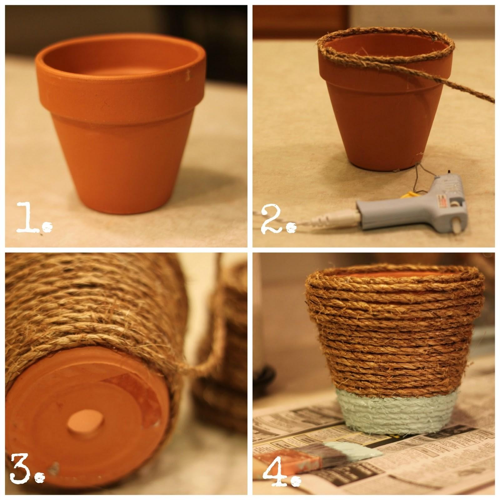 Rope Wrapped Pots House Hoff