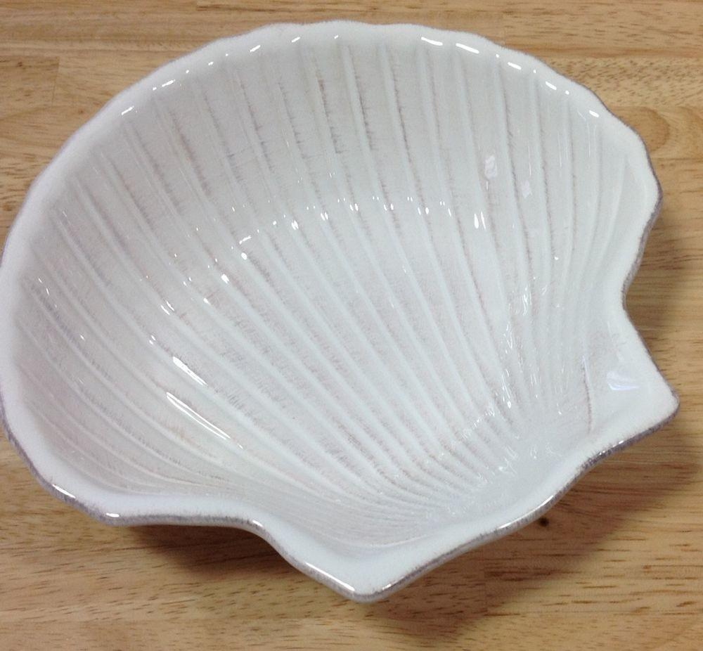 Roscher Nautilus Collection Shell Shaped Whitewash Soup
