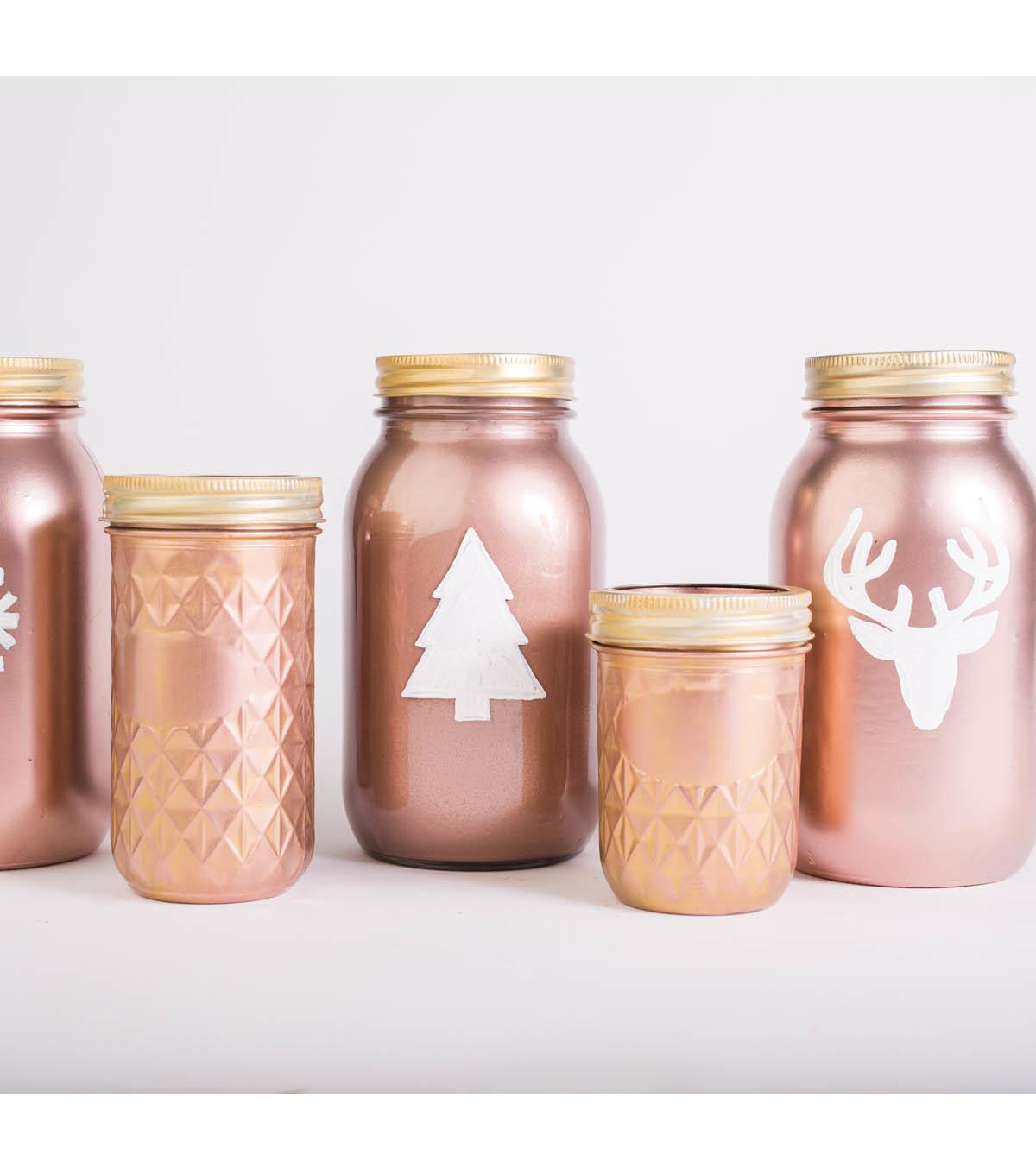 Rose Gold Holiday Mason Jars Joann