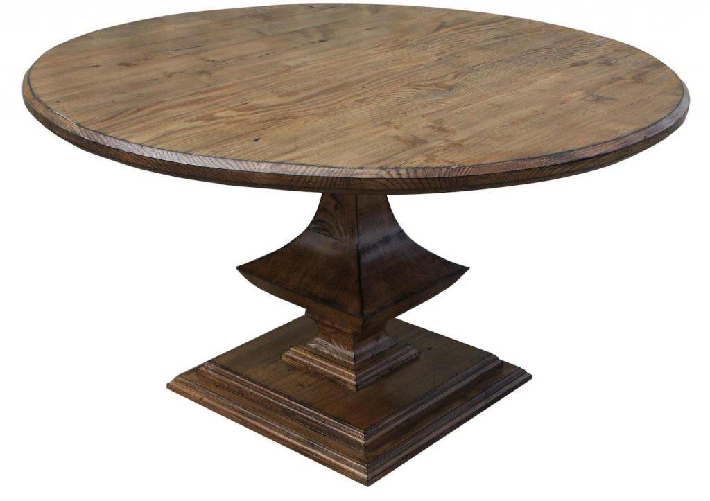 Round Black Pedestal Dining Table High Quality Interior