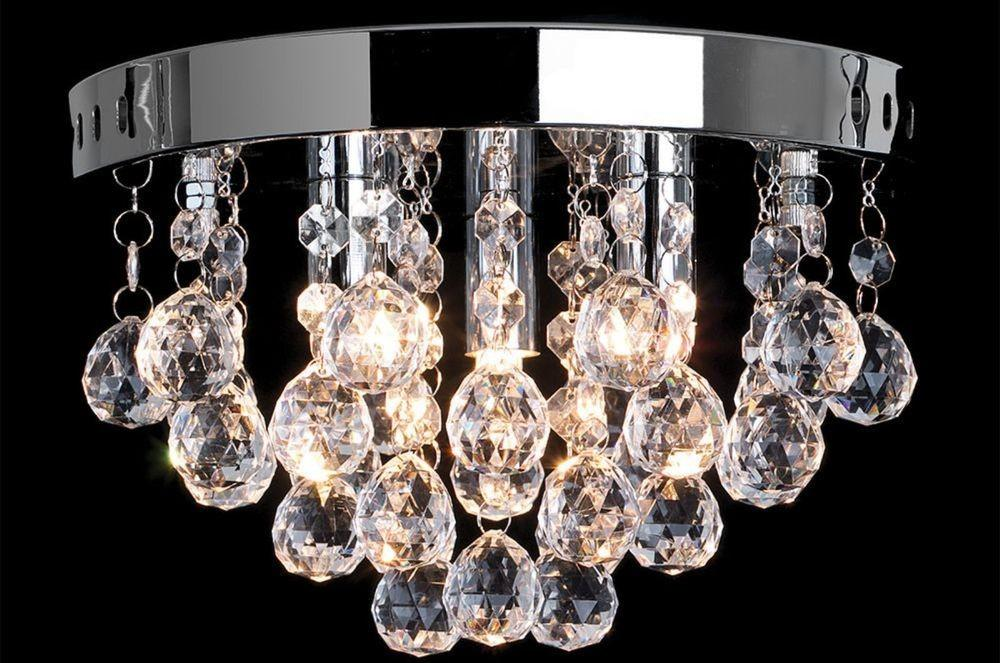 Round Chandelier Decorative Flush Ceiling Light Fitting