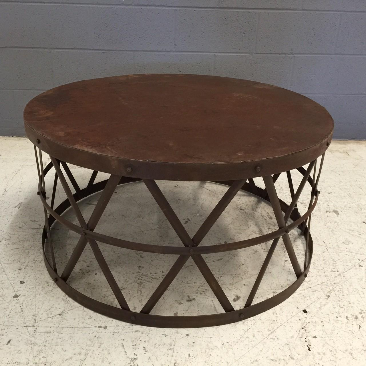 Round Metal Coffee Table Shapes Med Art Home Design Posters