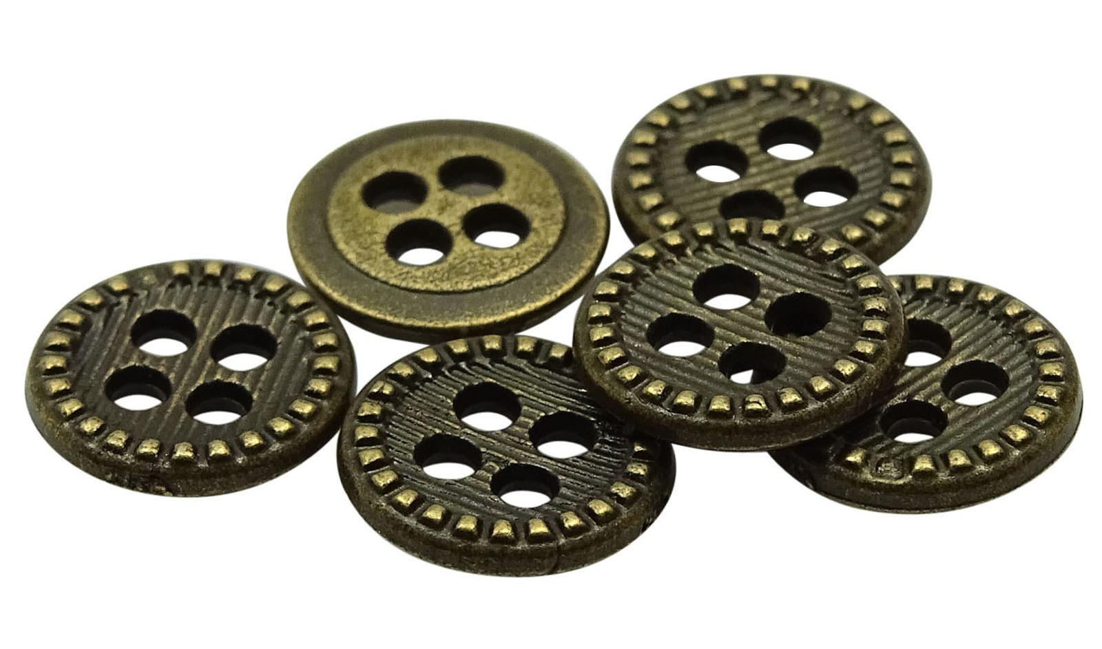 Round Metal Diy Buttons Wholesale Pack 140 Pieces