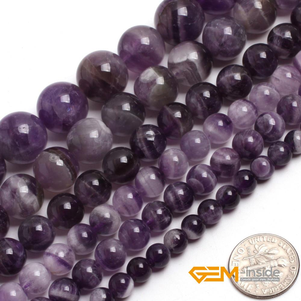 Round Mixed Color Amethysts Beads 6mm 14mm Natural