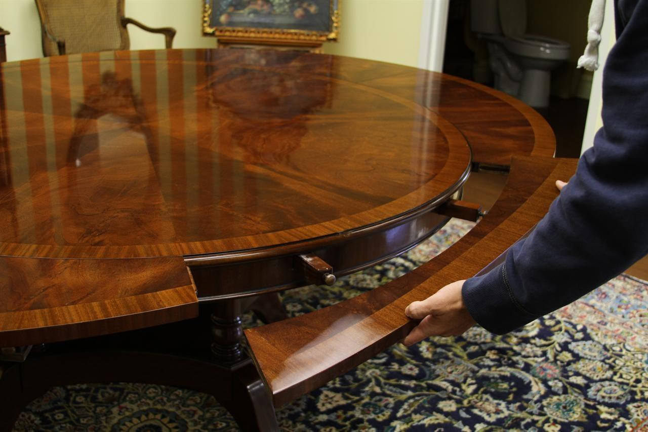 Round Oval Mahogany Dining Table High End