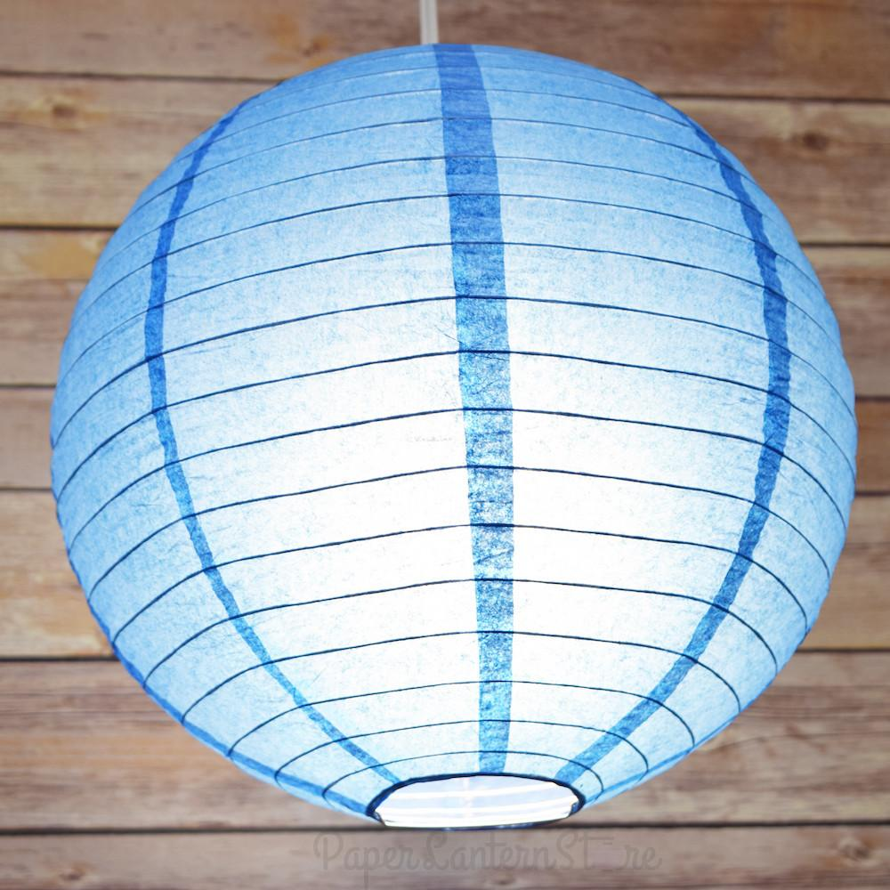 Round Paper Lantern Even Ribbing Hanging Light