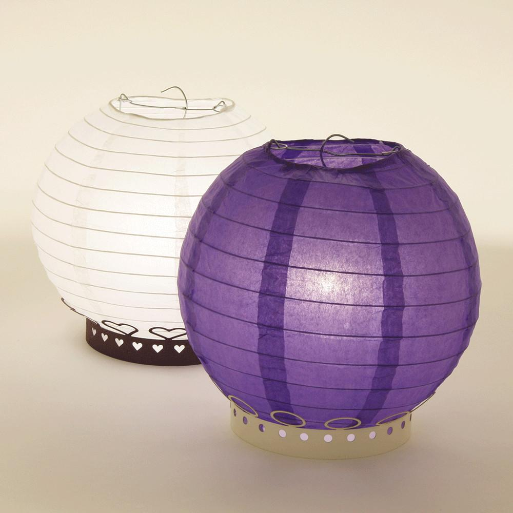 Round Paper Lantern Table Stands
