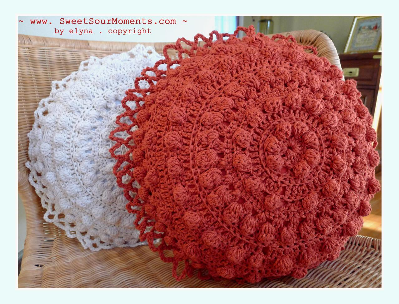 Round Pillow Diy Crochet Sweetsourmoments