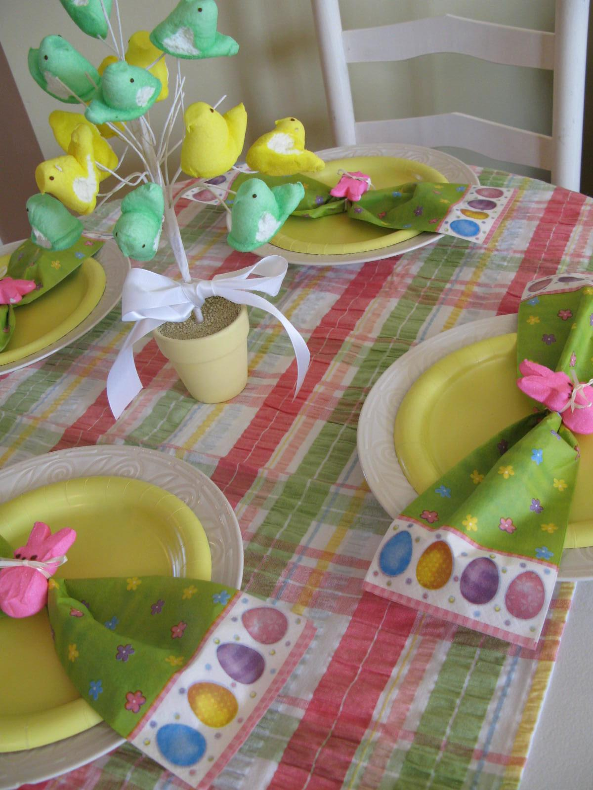 Roundabout Easter Table Setting
