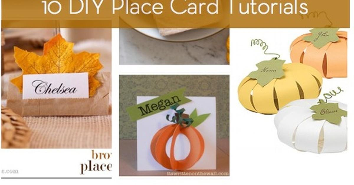 Roundup Diy Thanksgiving Place Card Tutorials Curbly
