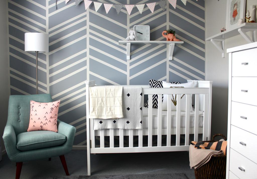 Roundup Herringbone Accent Walls Project Nursery