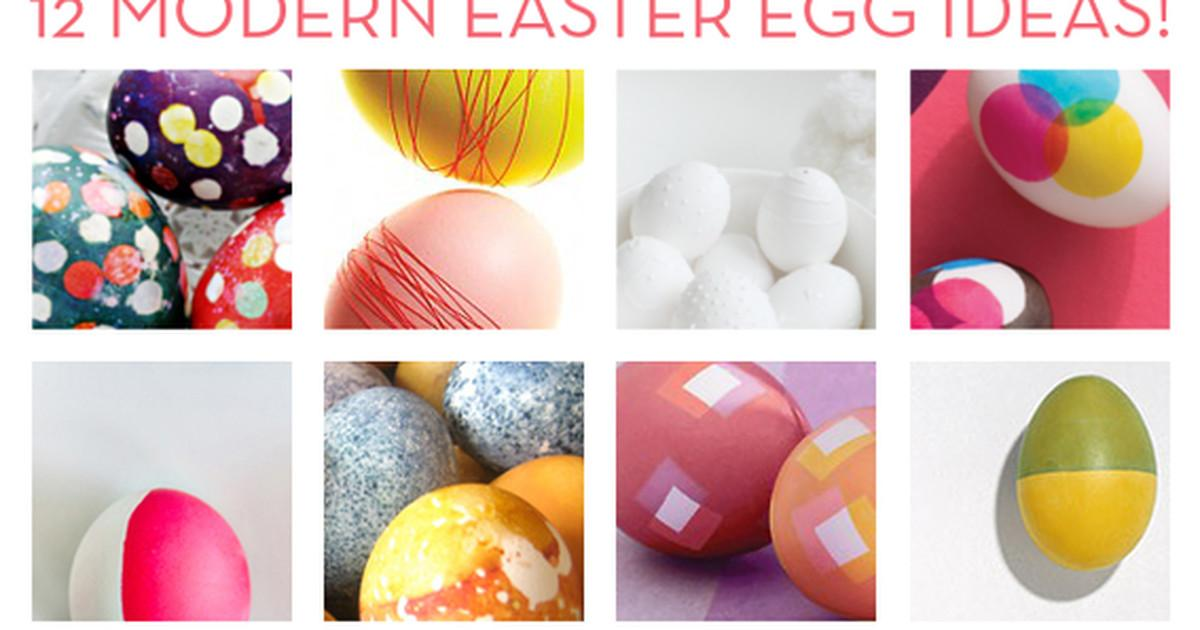 Roundup Unique Modern Diy Easter Egg Ideas Curbly