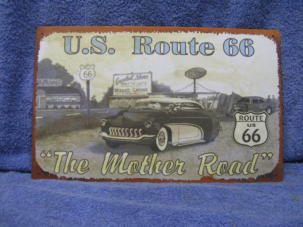 Route Mother Highway Road Tin Metal Sign Decor