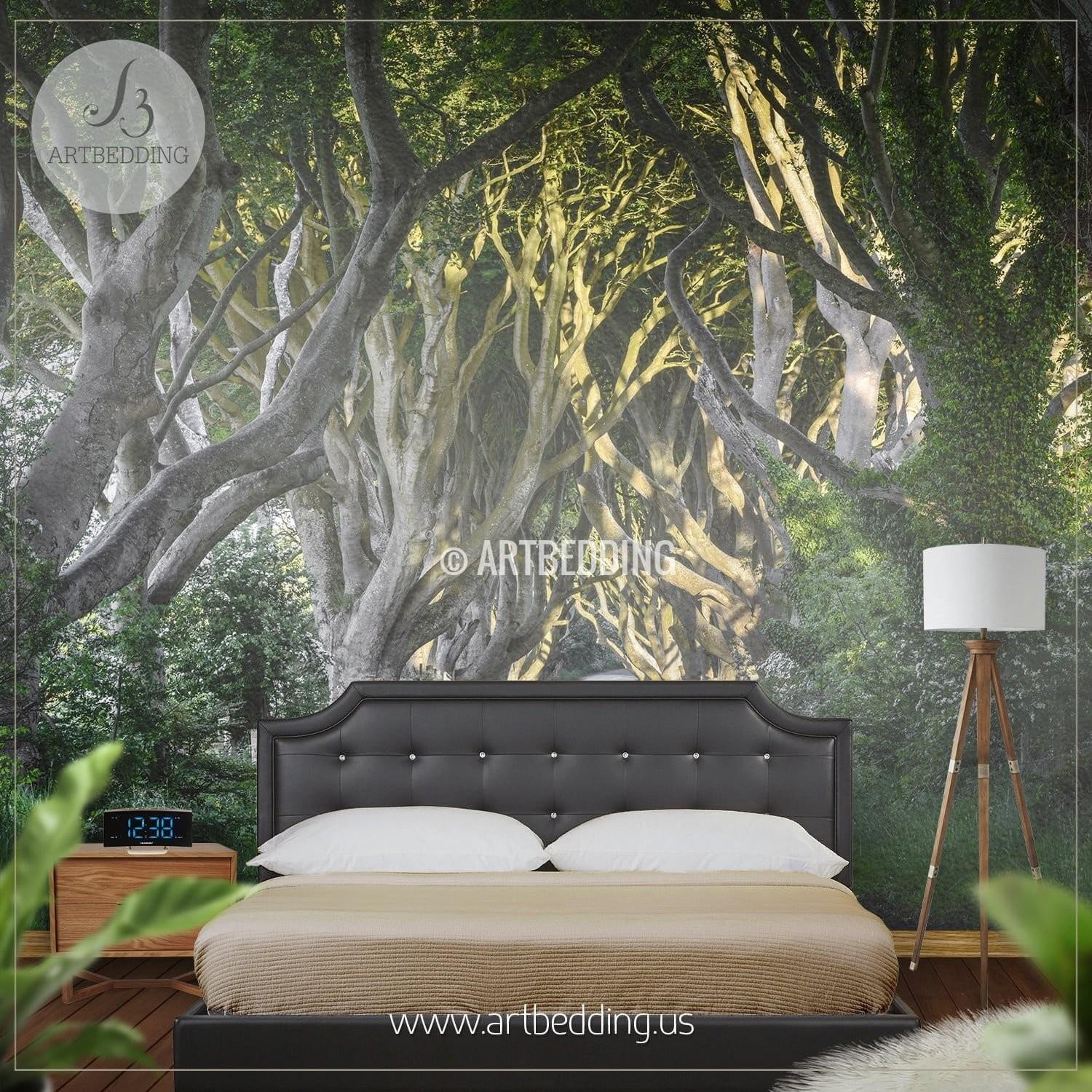 Route Through Forest Self Adhesive Mural Artbedding