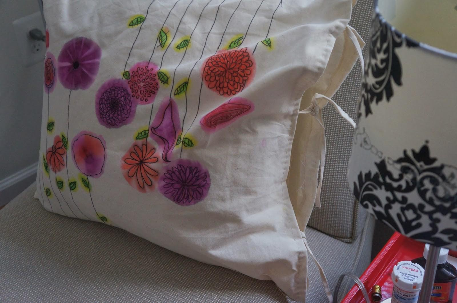 Row House Rules Water Color Pillow Diy