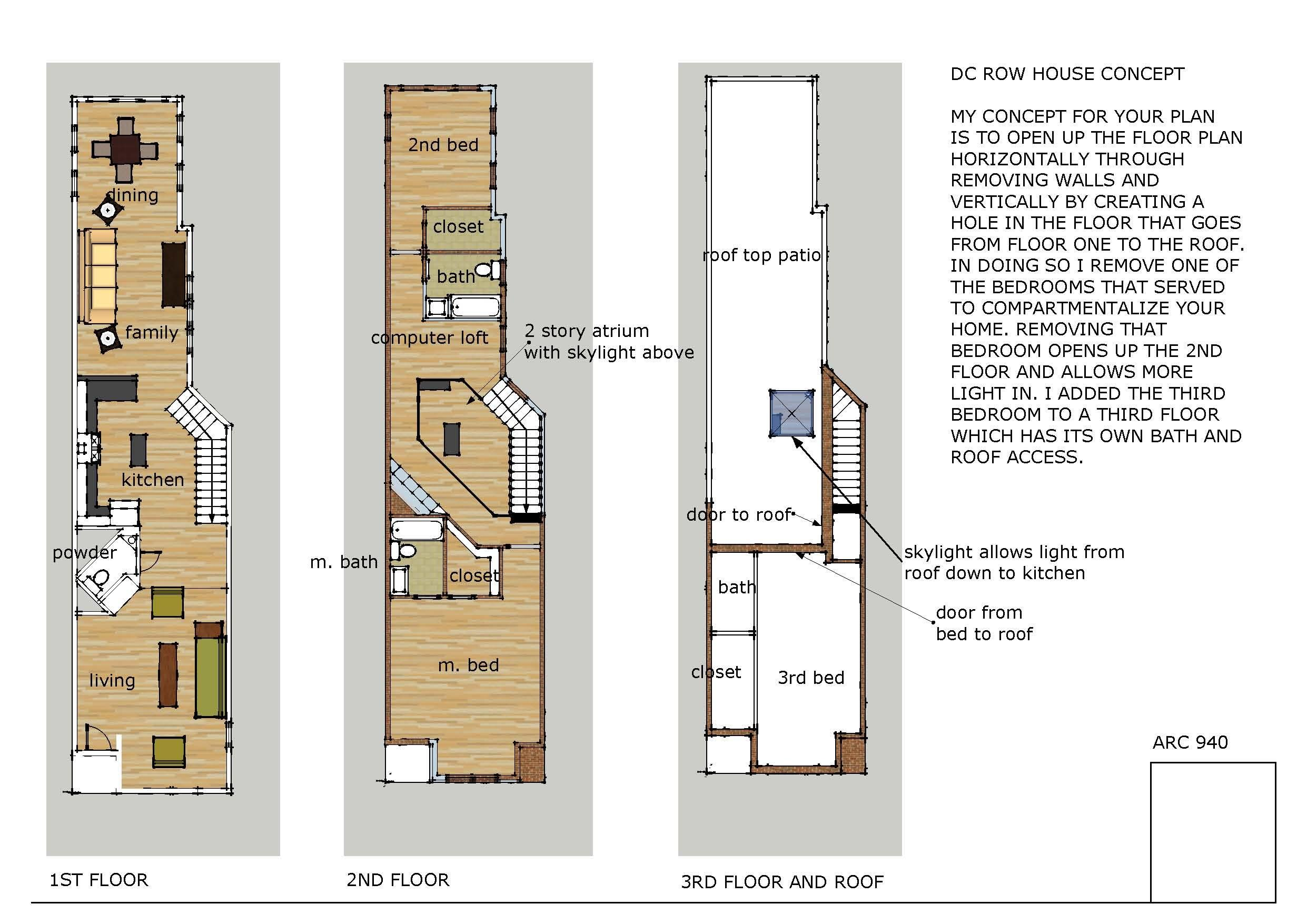 Rowhouse Plans Modern Joy Studio Design Best