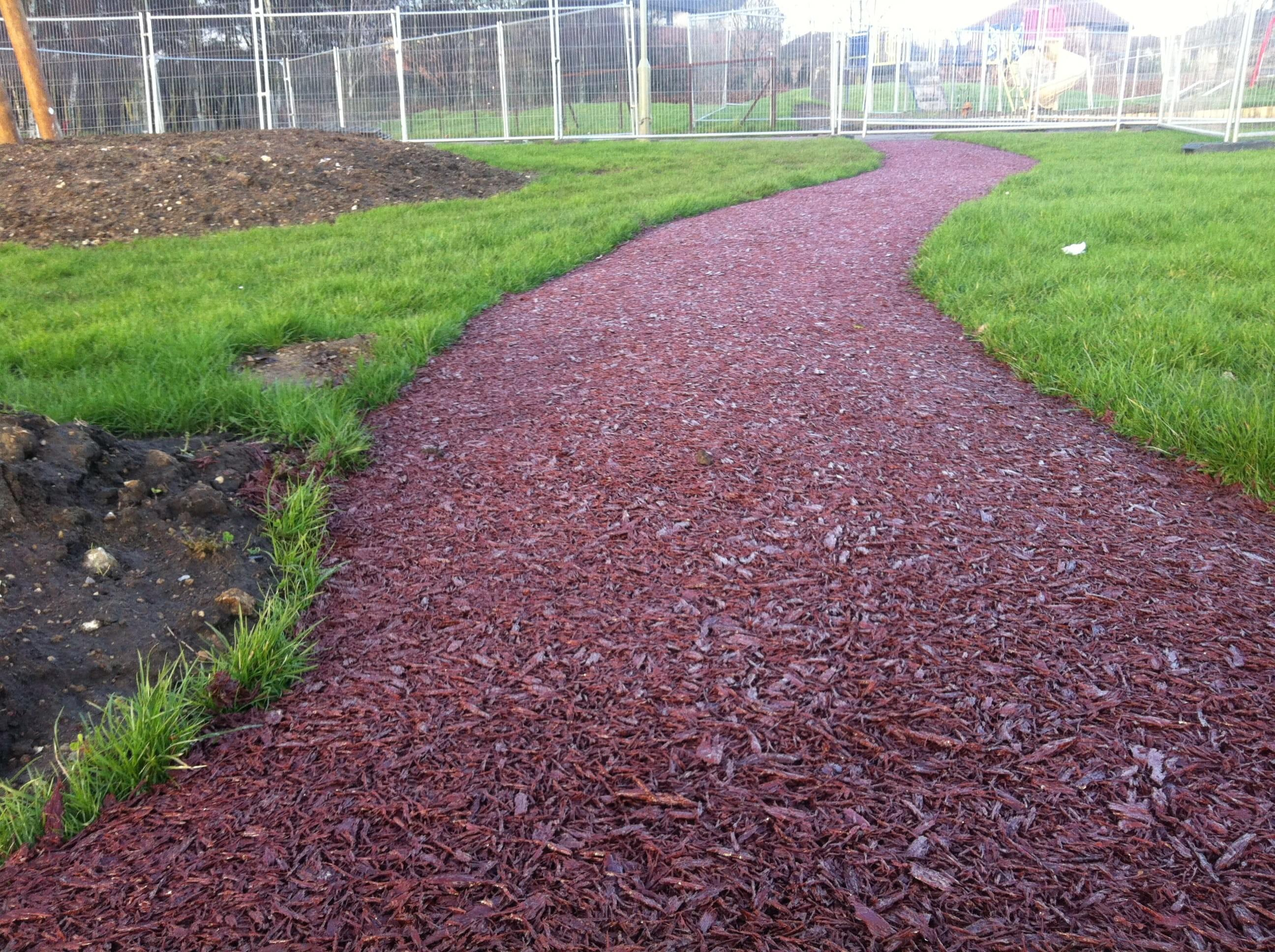 Rubber Mulch Surfacing Bonded Play Bark Surfaces