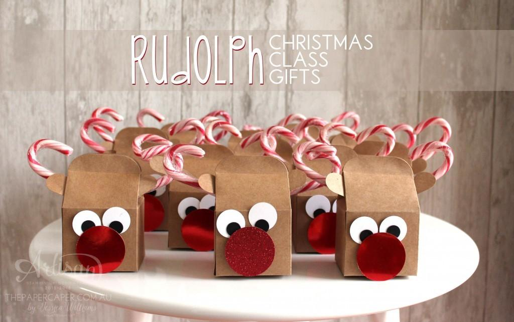 Rudolph Christmas Class Gifts Paper Caper