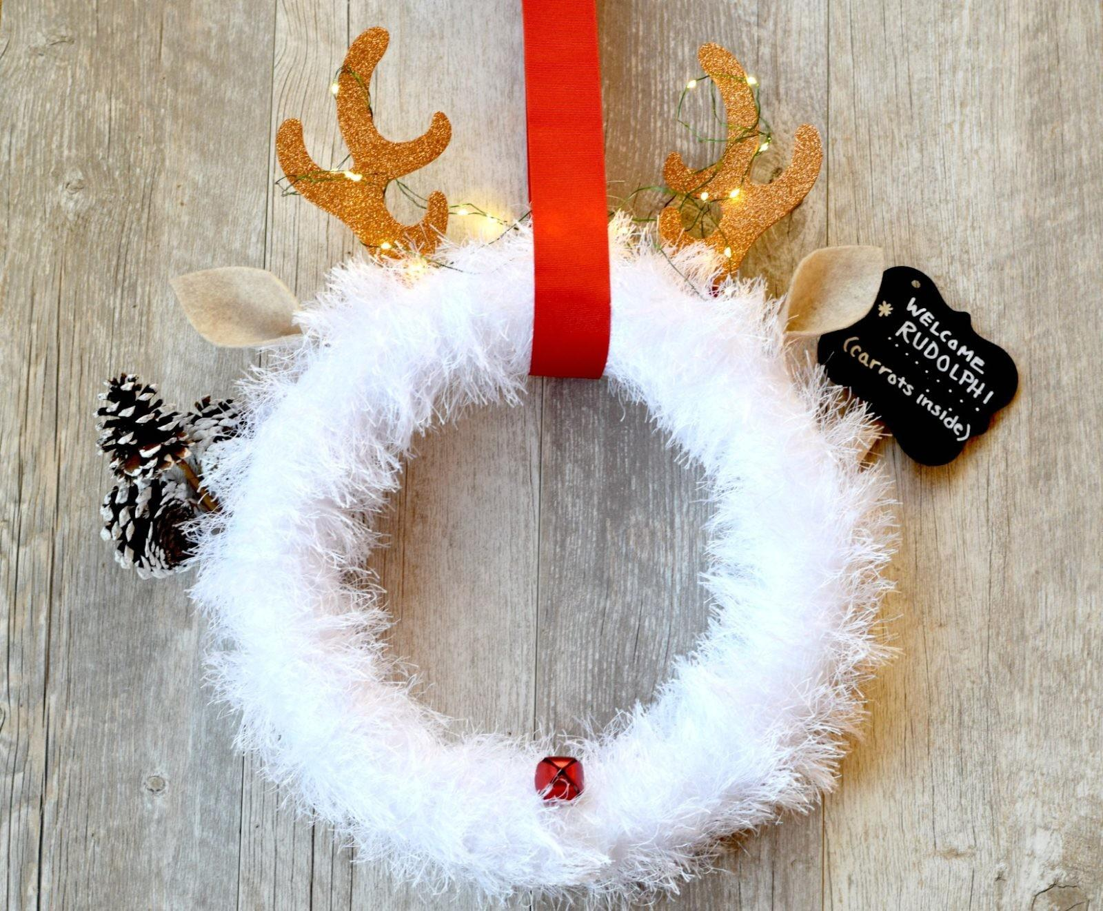 Rudolph Christmas Wreath Diy Mama Stitch