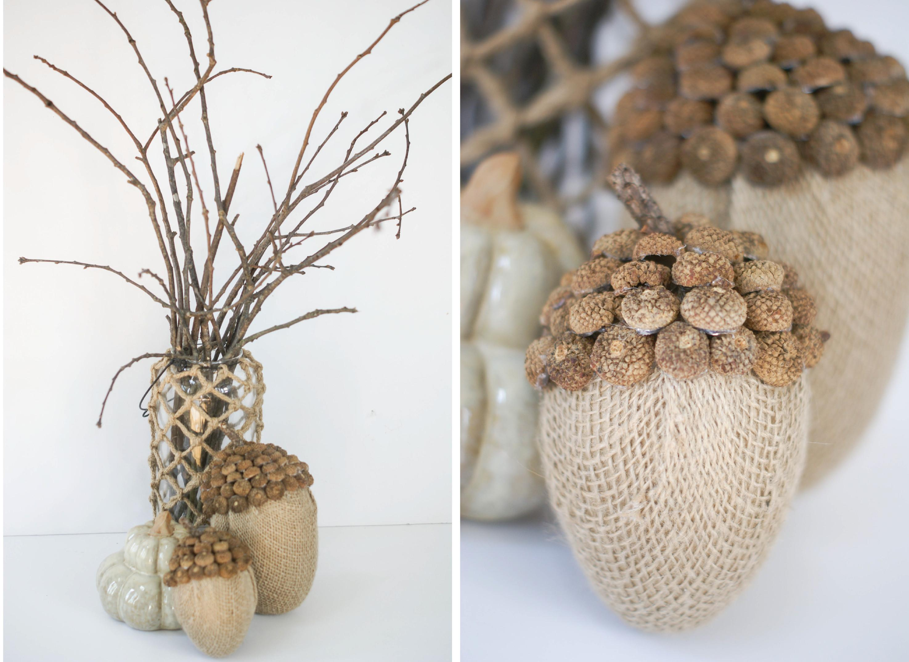 Ruff Draft Burlap Acorns Fall Anders