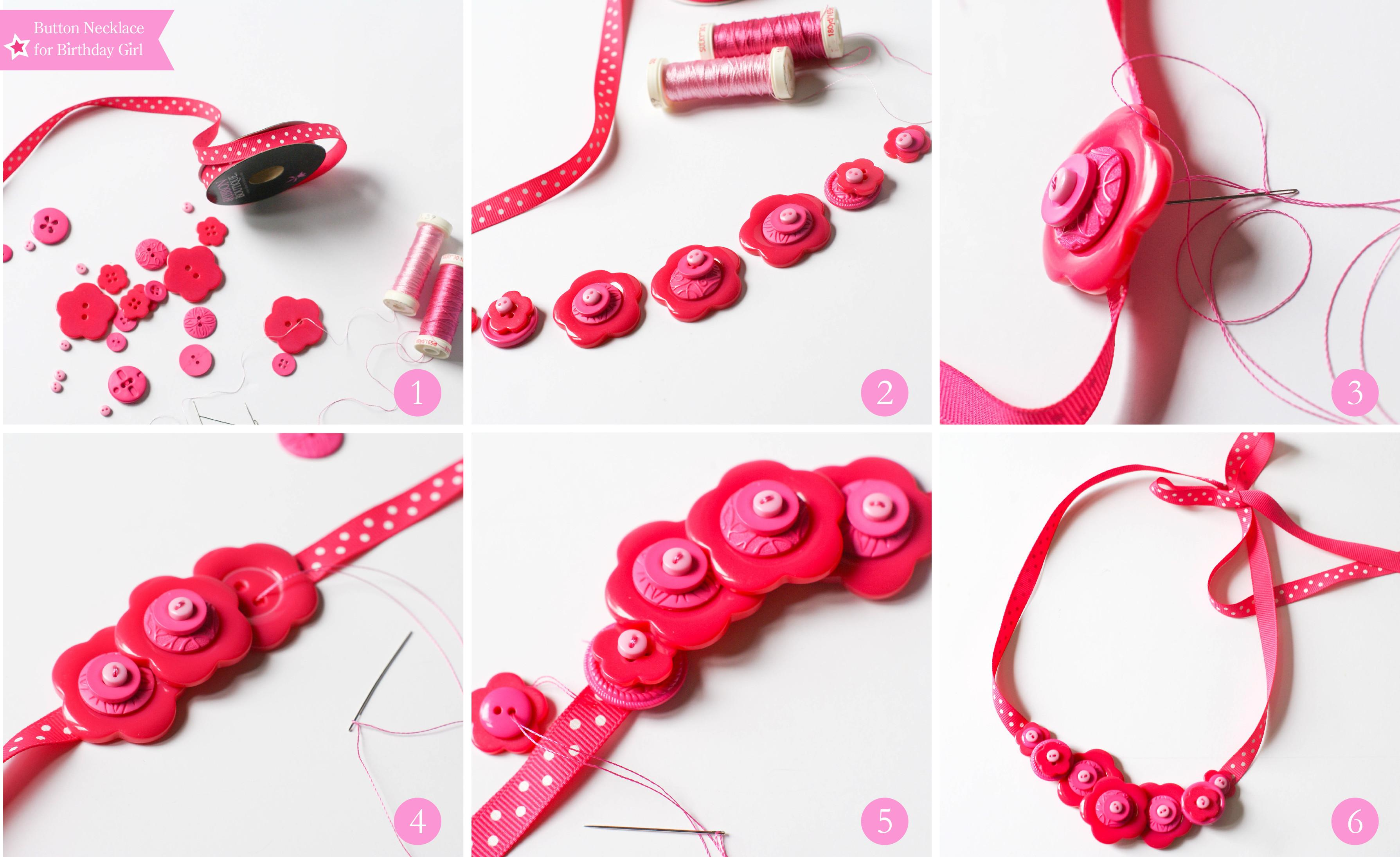 Ruff Draft Diy Button Necklaces Headbands Doll